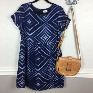 NWT Old Navy Blue Tie Dye Dress with Zipper